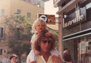 Kevin and Galen Ayers in Palma 1980