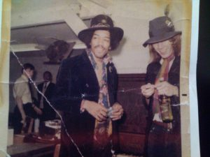 Jimi Hendrix and Kevin Ayers, circa 1968
