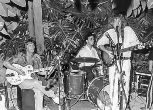 Kevin Ayers with Mike Oldfield at Sa Fonda, Deia, Mallorca