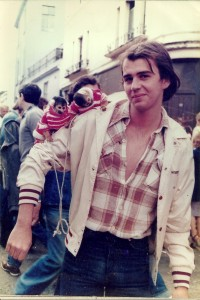 Peter Haines June 1st 1974. Portobello Road, London.