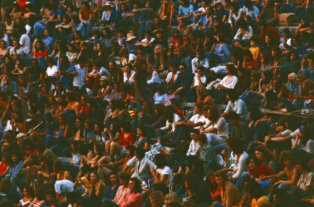 Audience ar Arles Festival 6 August 1975