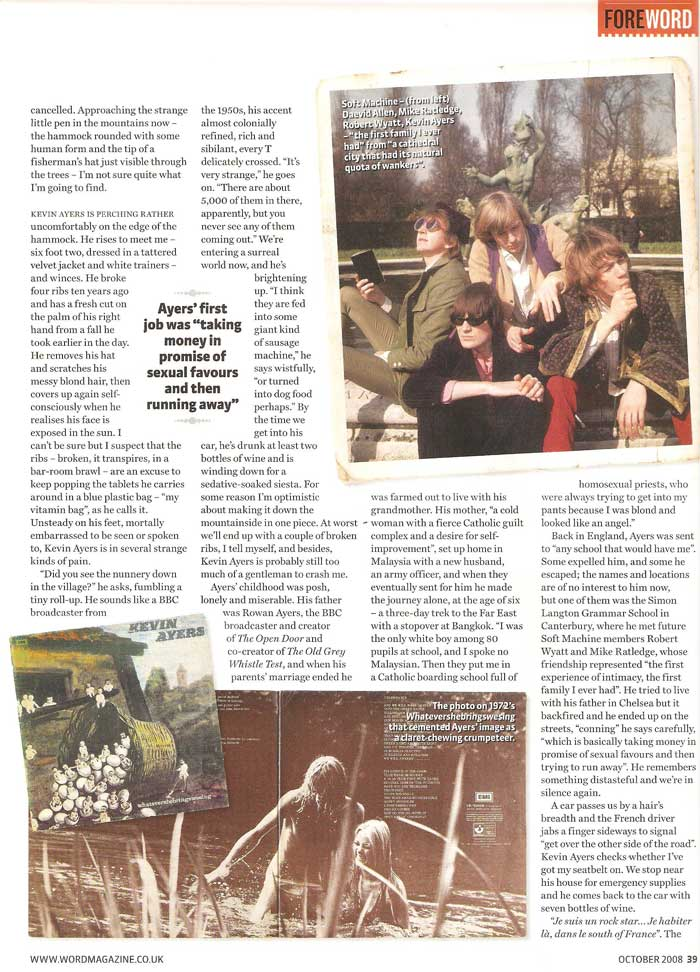 Kevin Ayers Interview p2